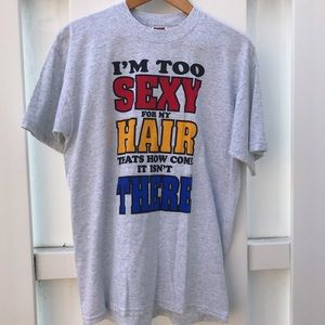"Vintage ""I'm Too Sexy"" Comedy T-shirt ✨"